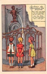 Comic Belgium Bruxelles, Souvenir de Manneken Pis, Betty, little girl