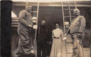 F9/ Occupational Real Photo RPPC Postcard c1910 Painting Crew Porch 8