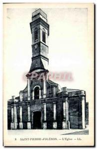 Postcard Old Saint Pierre d Oleron The Church