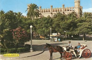 Horse coaxh with tourists in Mallorca Nice Spanish PC 1960s