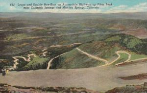 Colorado Loops & Double Bow Knot On Automobile Highway up Pikes Peak