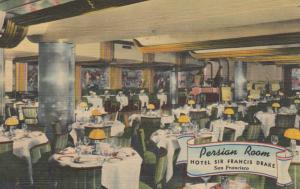 SAN FRANCISCO , California , 30-40s; Persian Room, Hotel Sir Francis Drake