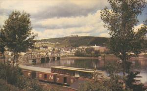 La Gaspesie, Bridge, Train, Lake, GASPE, Quebec, Canada, 40-60's
