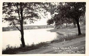 LPM44 Centerville Fish Lake  Michigan RPPC Postcard