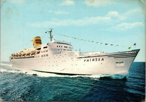 Postcard Sitmar Cruises Fairsea Passenger Ship Posted