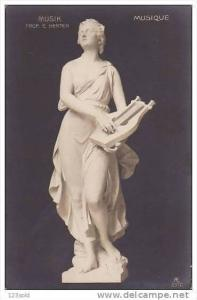 RP, Marble Music (Musique) Statue, Prof. E. Herter, 1920-1940s