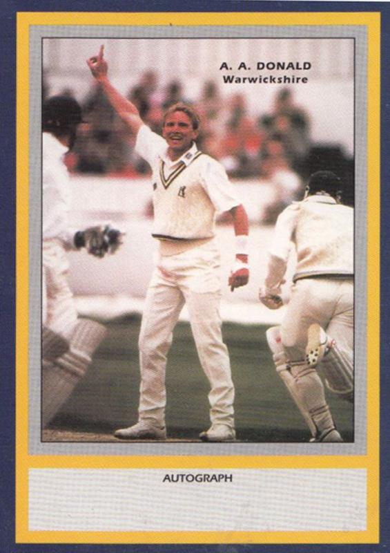 AA Donald Warwickshire Limited Edition Vintage Cricket Trading Photo Card