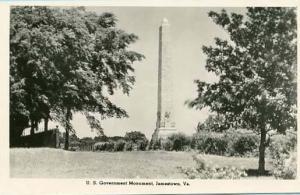 VA - Jamestown. U. S. Government Monument    *RPPC