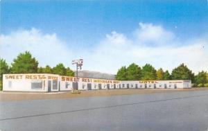 Missoula Montana~Sweet Rest Motel~1950s Postcard
