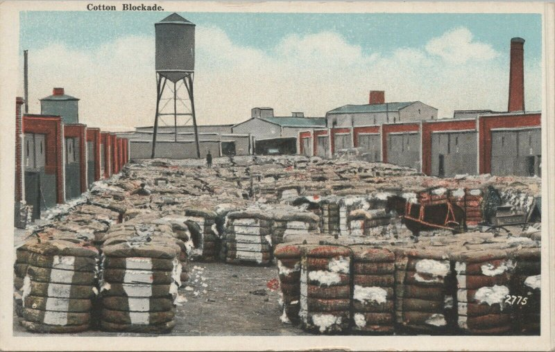 COTTON BLOCKADE vintage postcard,Pub. By The Chester Co Baltimore