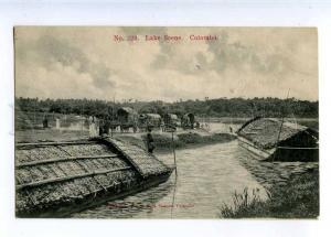 227097 CEYLON COLOMBO Lake scene Vintage Sadoon postcard #229