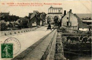 CPA Autun Porte Romaine dite d'Arroux FRANCE (952591)