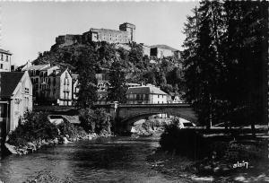 France Lourdes, Le Chateau Fort et le Gave, River Bridge Partial view