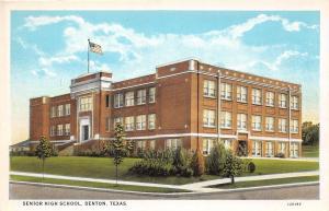 E3/ Denton Texas Tx Postcard c1910 Senior High School Building