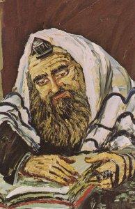 Jewish New Year , Rabbi in prayer , 1972 ; Artist Morris Katz