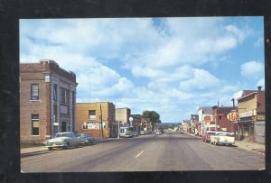 FLORENCE WISCONSIN DOWNTOWN STREET SCENE OLD CARS VINTAGE POSTCARD