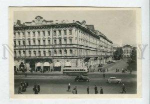 426957 USSR Leningrad European hotel BUS CARS 1950 year Lenfotokhudozhnik
