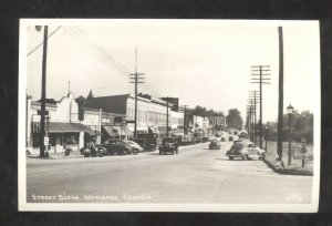 RPPC WAYCROSS GEORGIA DOWNTOWN STREET SCENE OLD CARS REAL PHOTO POSTCARD