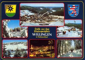 Postcard WILLINGEN Wintersports in Hochsauerland Multiview GERMANY