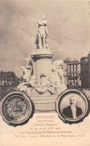 France Souvenir des Fetes, Donnees a Bordeaux Statues Monument