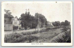 Maple Plain Minnesota~Main Street along Field~General Store~Horse Wagon~1908