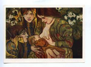 200455 POLAND motherhood breast-feeding by Wyspianskiy