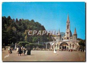 Modern Postcard Lourdes Htes Pyr Basilica and the Esplanade