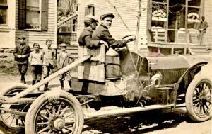 NY - Ballston Spa. Fred Merrill, Merrill's Garage. Driving Buick (ca 1914)