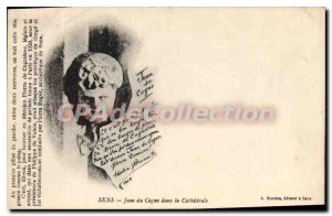 Old Postcard Sens Jean in Cogno in the Cathedral