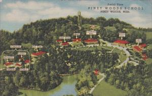 Mississippi Piney Woods Aerial View Piney Woods School 1957 Curteich