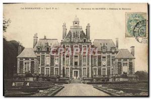 Old Postcard The normandoe around Bayeux Balleroy castle balleroy