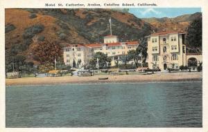 AVALON, CA California  HOTEL ST CATHERINE~Santa Catalina Island c1920's Postcard