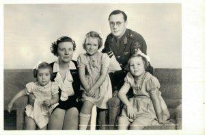 Royalty Princess Juliana Prince Bernhard and their Daughters RPPC 07.08