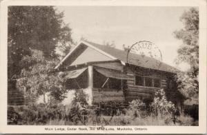 Cedar Nook Ontario ON Six Mile Lake Muskoka Main Lodge c1914 Postcard E36