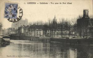 CPA AMIENS - Cathédrale - Vue prise du Port d'Aval (121196)