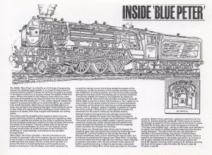 Inside Blue Peter Train LNER Class 60532 Postcard