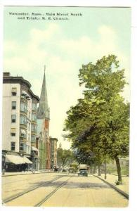 Main Street south and Trinity M.E.Church, Worcester, Massachusetts, 00-10s