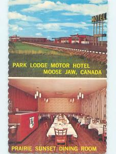 Unused Pre-1980 MOTEL SCENE Moose Jaw Saskatchewan SK F7183