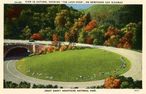 NC - Great Smoky Mts. Nat'l Park. Newfound Gap Hwy Loop Over