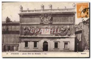 Old Postcard Avignon Old Bank Hotel currencies