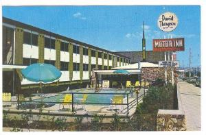 David Thompson Motor Inn, Swimming Pool, Downtown Kamloops, British Columbia,...