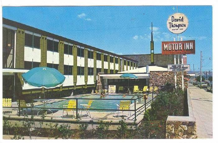 David Thompson Motor Inn, Swimming Pool, Downtown Kamloops, British Columbia,...