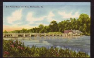 Virginia Postcard Power House & Dam  Martinsville