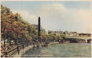 United Kingdom, London, Cleopatra's Needle and Victoria Embankment, Postcard