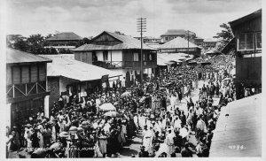 Ghana Gold Coast Procession of Chiefs Kumasi Postcard