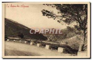 Old Postcard Les Baux B R Avignon Road