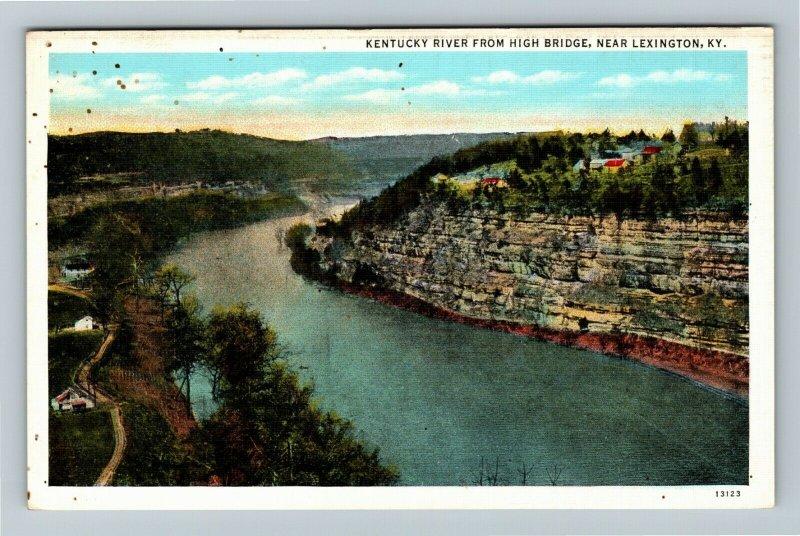 Lexington, KY-Kentucky, Kentucky River From High Bridge, Vintage Postcard