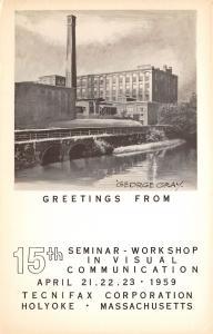 Holyoke MA~Tecnifax Corporation~15th Visual Communication Workshop~1959 RPPC