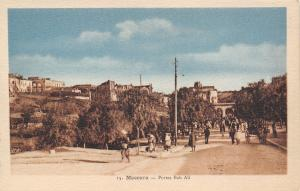 Mascara Algiers~Portes Bab Ali~City on Hillside~Crowded Road~Wagon~c1935 PC