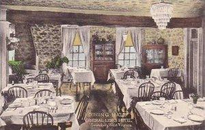 West Virginia Lewisburg The General Lewis Hotel Dining Hall Albertype
